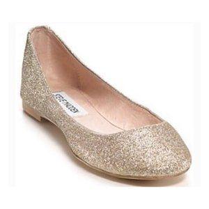 Brand New Steve Madden Gold Glitter Flats